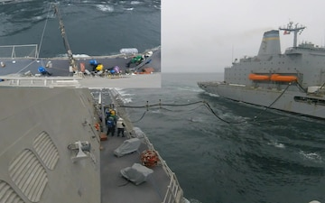 USS Montgomery (LCS 8) Conducts Underway Replenishment
