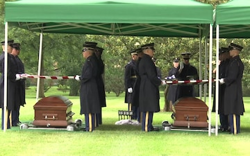 Full Honors Group Funeral Service for Airmen Missing From World War II - Arlington National Cemetery