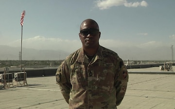 Sgt. 1st. Class Orlando Ross sends a 4th of July greeting