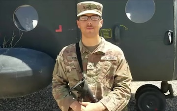 Pfc. Noah Wolfe sends a shoutout to the San Diego Padres
