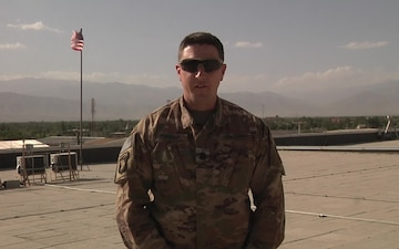 Army 1st Sgt. Brandon Rudder sends a 4th of July greeting