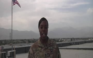 Sgt. 1st. Class Shantae Allen sends 4th of July greeting