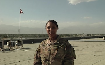 Command Sgt. Maj. Cynthia Perryman sends a 4th of July greeting