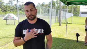 Country music singer, Tyler Farr, tours Camp Lejeune during Base*FEST
