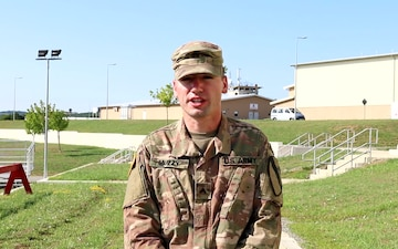 CPL Joseph Muzzy gives a 4th of July shout out