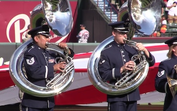 Lackland AFB Performs at Texas Rangers July 4th Game