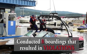 Coast Guard Urges Boating Safety in Coeur d'Alene Throughout the 4th of July Holiday