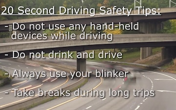 20 Second Safety Tips: Driving Safety