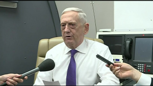 Mattis Speaks to Reporters on Flight to Oslo