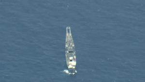 Air, Land, Sea Strikes Sink Decommissioned Ex-USS Racine during RIMPAC