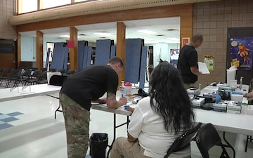 Soldiers provide health services to Native American Community