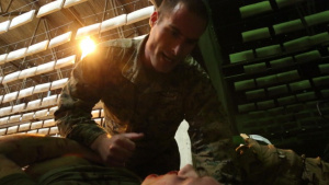 Navy Corpsmen conduct casualty evacuation training exercise in Norway