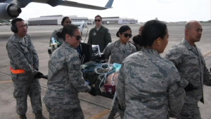 Aircrew, medical Airmen train together at Pacific Lifeline 2018