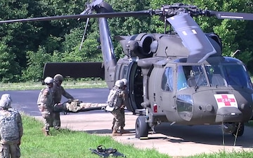 1st TSC Blackhawk Medical Evacuation Training