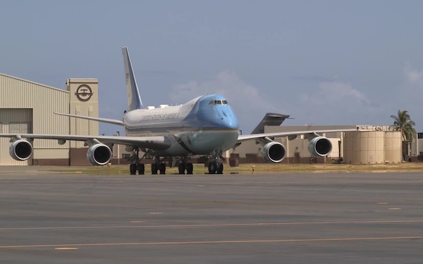 VC-25 (Air Force One) Visit to Joint Base Pearl Harbor-Hickam