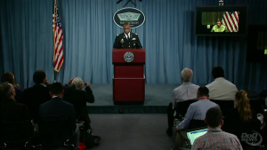 Centcom Commander Briefs Press