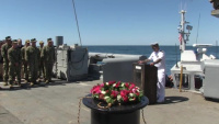 U.S. Navy commemorates the 100th anniversary of the sinking of the USS San Diego (ACR 6) with a wreath laying ceremony.