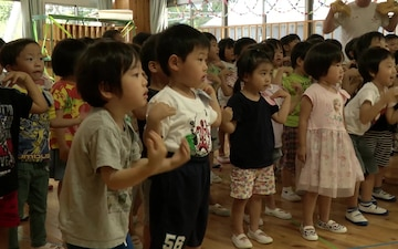 MCAS Iwakuni Marines make friends with Japanese children through teaching, playing (B-Roll)