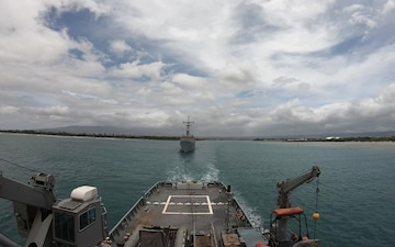 USNS Sioux tows ex-McClusky Out to Sea