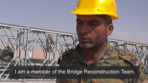 Syrian Democratic Forces Build Bridge
