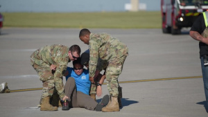Training Exercise on Minot Air Force Base with F18 Crash