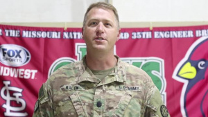Missouri Army National Guard soldier gives shoutout