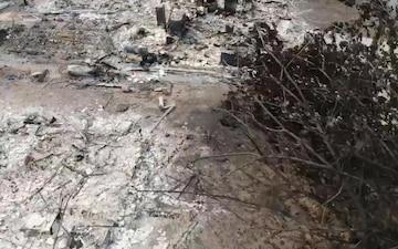 Drone footage of Carr Fire destruction