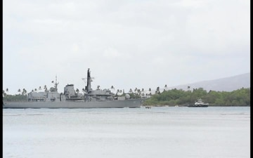 CNS Almirante Lynch (FF 07) returns to Joint Base Pearl Harbor-Hickam