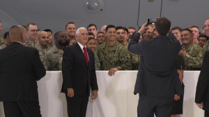 Pence greets service members at JBPH-H
