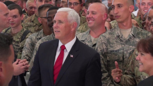 Vice President Pence greets service members at JBPH-H