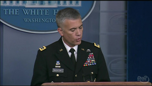 Cybercom Commander Briefs Reporters at White House