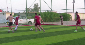 France Takes on Iraq in a Coalition and Partner Forces Football Series
