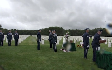 The Interment of Major Andreas B O'Keeffe at Calverton National Cemetery