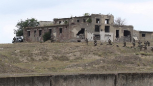 B-Roll: GA National Guard, German army, Ukrainian Marines, Georgian SOF Combined Urban Ops Exercise during Noble Partner 18
