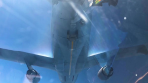 KC-10 Extender Creating Contrails During Refueling Mission