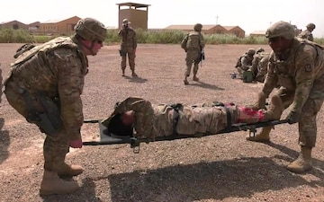 321st SB, ANZAC Partner for Mass Casualty Exercise at Camp Taji