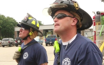 Civilian Firefighters Hold the Fort