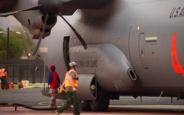 B-Roll: MAFFS 4 at SoCal airtanker base during Holy Fire