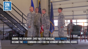 New Command Chief at the Vermont Air National Guard