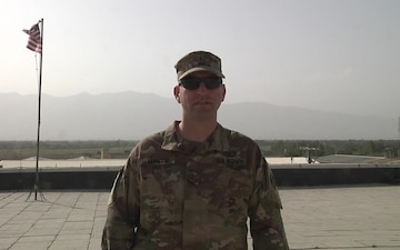 Chief Warrant Officer 3 Stephen Mantie sends a back to school greeting