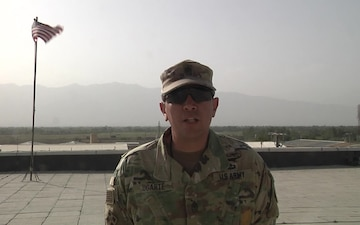 Sgt. Maj. John Ugarte  sends a back to school greeting