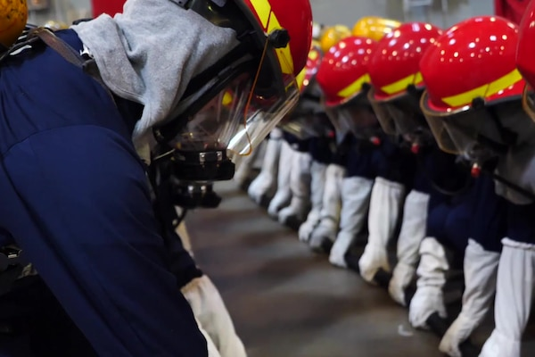 Recruit Training Command USS Chief Fire Fighter Trainer
