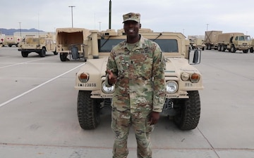 1st Sgt. Carlos Evans sends a shout-out to the Dallas Cowboys