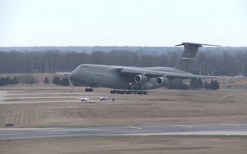 C-5 Galaxy landing at Travis AFB