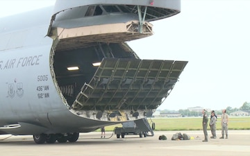 C-5 Galaxy loading at Dover AFB