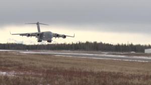 C-17 Globemaster Landing at JB Elmendorf-Richardson