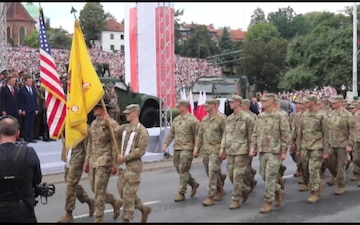 US Army Soldiers help Polish Army celebrate their 100th Anniversary on Polish Armed Forces Day