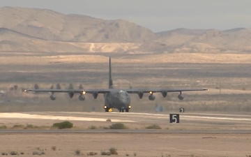 HC-130J taking off from Moody AFB