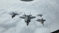 F-22 Raptor Formation with Norwegian F-35