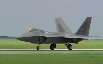 F-22 Raptor taking off from JB Langley-Eustis